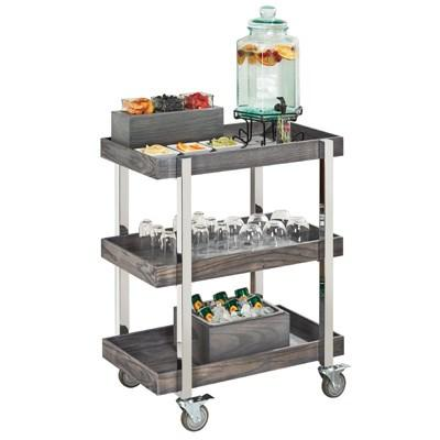 Cal-Mil 3834-83 Ashwood Gray Oak 3-Tier Beverage Cart