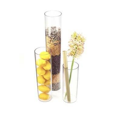"Cal-Mil 872-12 4"" X 12"" Round Clear Acrylic Accent Display Vase"