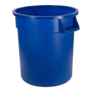 Carlisle 34101014 Bronco 10 Gallon Round Plastic Trash Can, Blue