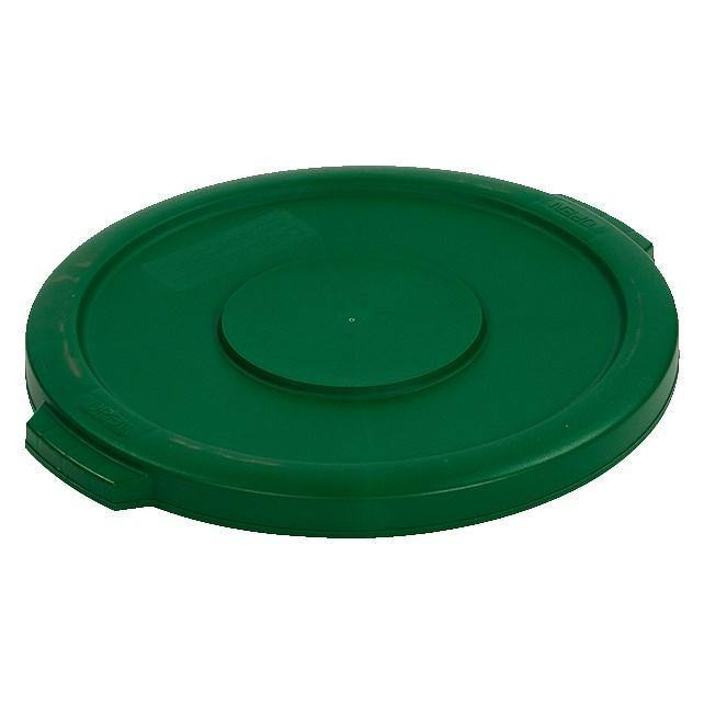 Carlisle 34101109 Bronco 10 Gallon Round Plastic Trash Can Lid, Green