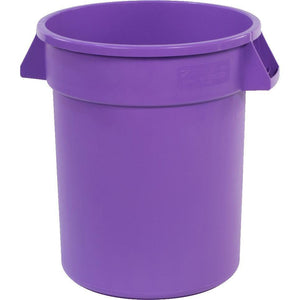Carlisle 34102089 Bronco 20 Gallon Round Plastic Trash Can, Purple
