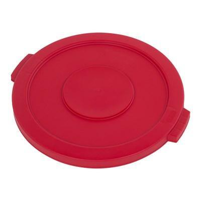 Carlisle 34102105 Bronco 20 Gallon Round Plastic Trash Can Lid, Red
