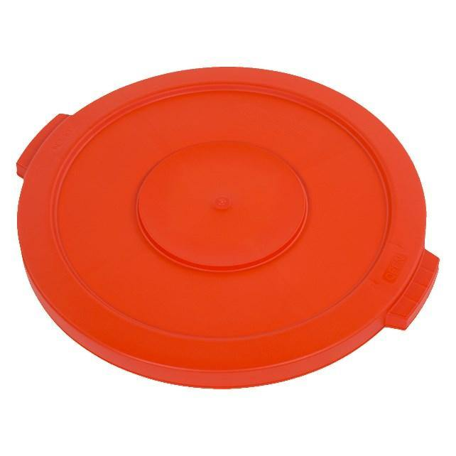 Carlisle 34102124 Bronco 20 Gallon Round Plastic Trash Can Lid, Orange