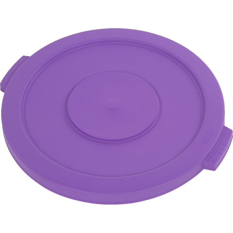 Carlisle 34102189 Bronco 20 Gallon Round Plastic Trash Can Lid, Purple