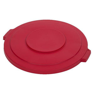 Carlisle 34103305 Bronco 32 Gallon Round Plastic Trash Can Lid, Red