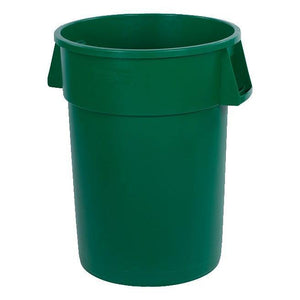 Carlisle 34104409 Bronco 44 Gallon Round Plastic Trash Can, Green