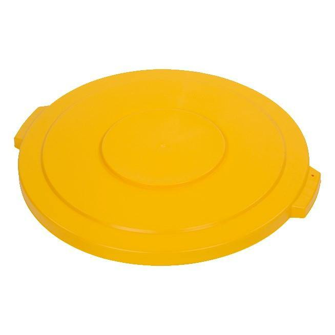 Carlisle 34104504 Bronco 44 Gallon Round Plastic Trash Can Lid, Yellow