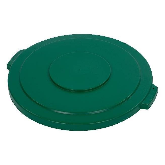 Carlisle 34104509 Bronco 44 Gallon Round Plastic Trash Can Lid, Green