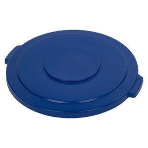Carlisle 34104514 Bronco 44 Gallon Round Plastic Trash Can Lid, Blue