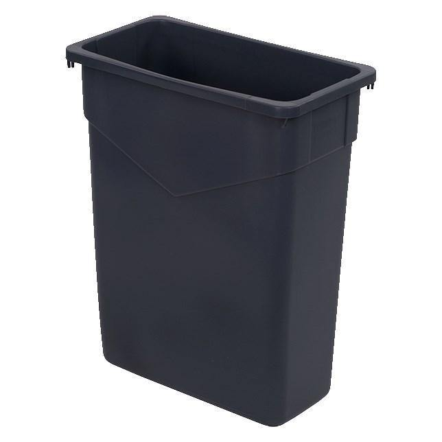 Carlisle 34201523 Trimline 15 Gallon Rectangular Trash Can, Plastic Gray