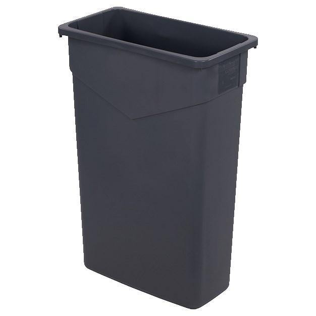 Carlisle 34202323 Trimline 23 Gallon Rectangular Plastic Trash Can, Gray