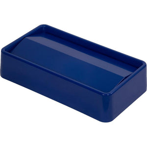 Carlisle 34202414 Trimline Rectangular Trash Can Swing Top, ABS plastic, Lid, Blue