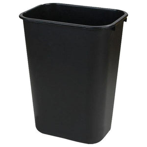 Carlisle 34291303 13 Qt Rectangle Waste Basket - Plastic, Black
