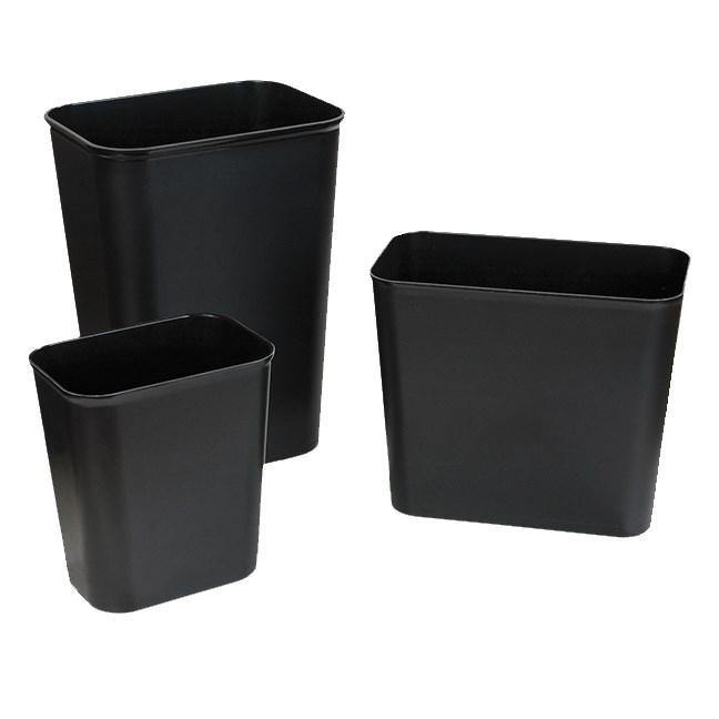 Carlisle 34294003 41 Qt Rectangle Waste Basket - Plastic, Beige
