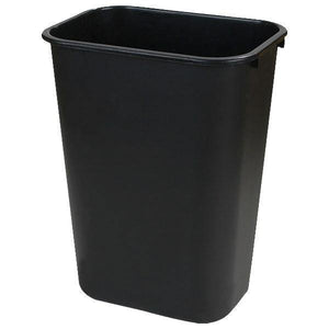 Carlisle 34294103 41-1/4 Qt Rectangle Waste Basket - Plastic, Black