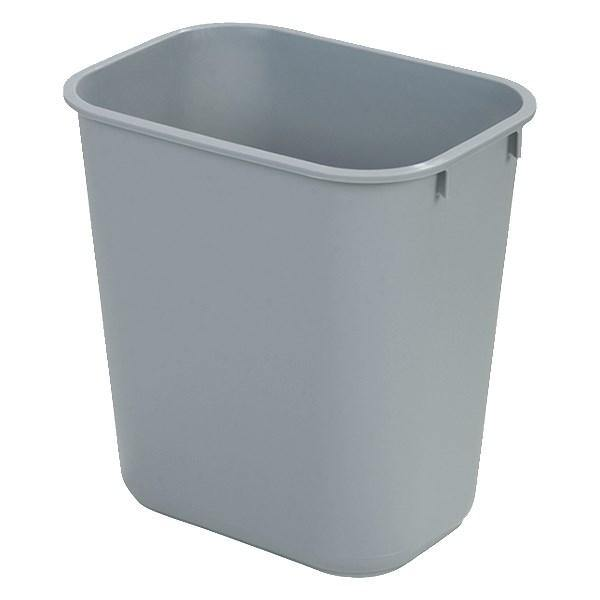 Carlisle 34294123 41-1/4 Qt Rectangle Waste Basket - Plastic, Gray