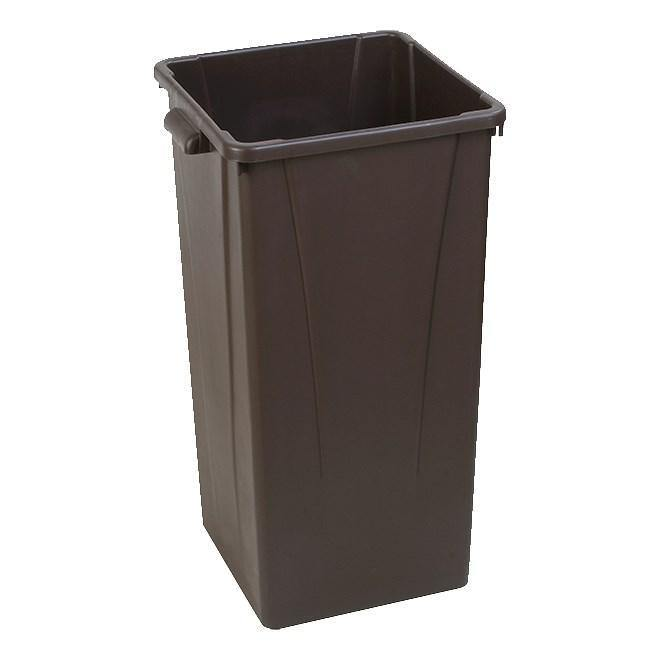 Carlisle 34352369 Centurian 23 Gallon Brown Square Tall Trash Can