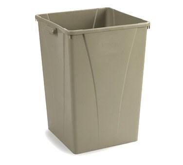 Carlisle 34393506 Centurian 35 Gallon Beige Square Trash Can