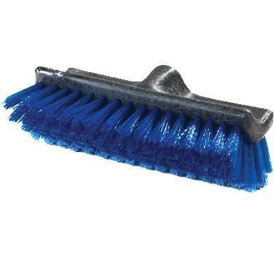 "Carlisle 3619714 10"" Dual Surface Floor Scrub Brush Head - Split Shape, Poly/Plastic, Blue"
