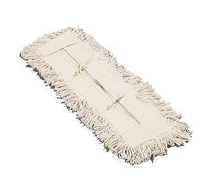 "Carlisle 364752400 24"" Flo-Pac Dust Mop Head Only with Cut Ends, White"