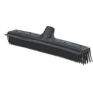 "Carlisle 3659603 16"" Brush with Squeegee - Rubber/Poly, Black"