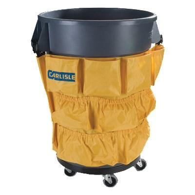 Carlisle 3691704 Waste Container Tool Caddy Bag - Nylon, Yellow