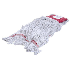 Carlisle 369424B00 Wet Mop Head - 4 Ply, Synthetic/Cotton Yarn, Red/White