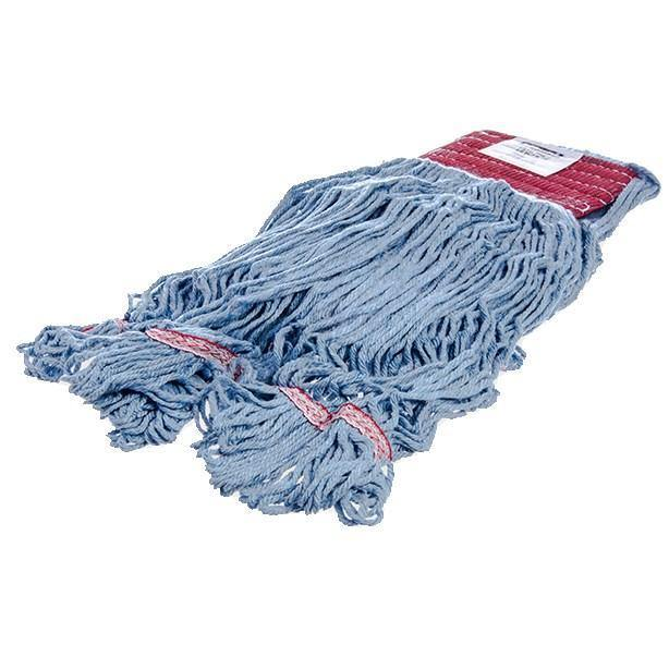 Carlisle 369454B14 Wet Mop Head - 4 Ply, Synthetic/Cotton Yarn, Red/Blue