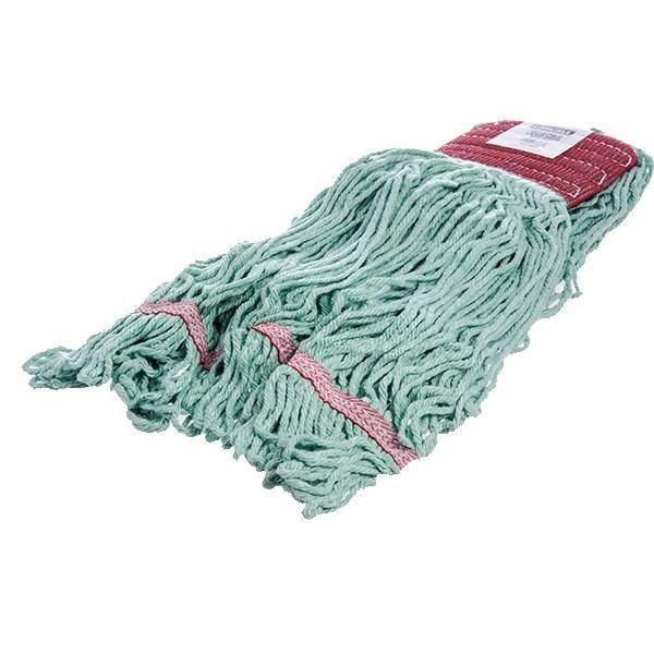 Carlisle 369484B09 Wet Mop Head - 4 Ply, Synthetic/Cotton Yarn, Green/Red