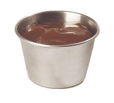 "Carlisle 602500 2-1/3"" Round Sauce Cup with 2-1/2 Oz Capacity, Stainless"