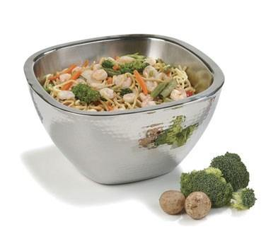 Carlisle 609211 3.5 Qt. Insulated Square Bowl, Stainless Steel