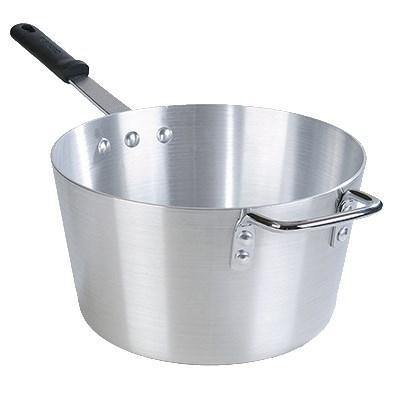 Carlisle 61710 10 Qt Aluminum Saucepan with Solid Silicone Handle
