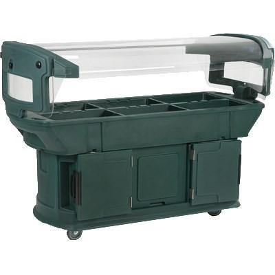 "Carlisle 771108 93"" Cold Food Bar with (6) Full-Size Pan Capacity, Polyethylene, Forest Green"