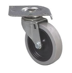 "Carlisle C2222C00 Plate Caster with 4"" Ball Bearing Swivel & 300 Lb Capacity"
