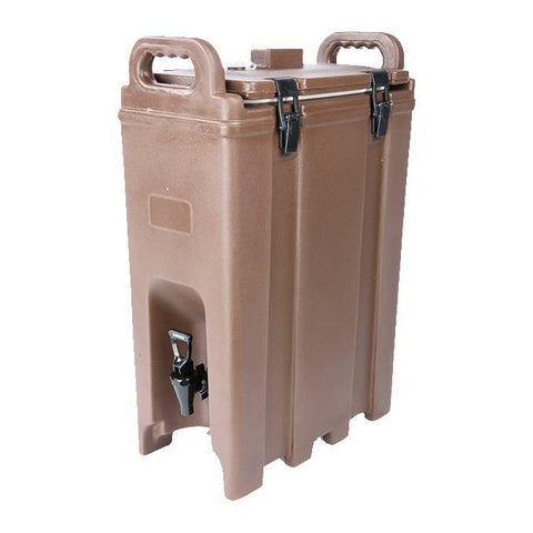 "Carlisle LD500N01 Cateraide LD 5"" Gallon Brown Insulated Beverage Dispenser"