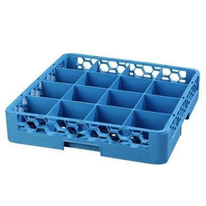 Carlisle RC1614 Opticlean Glass Rack with (16) Compartments - Blue