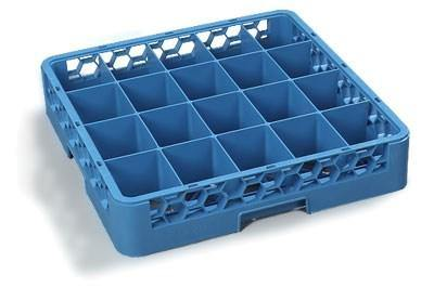 Carlisle RC2014 Opticlean Glass Rack with (20) Compartments - Blue