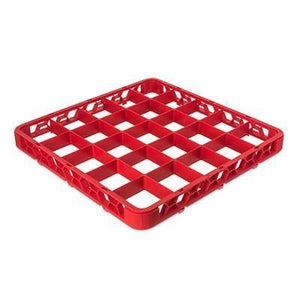 Carlisle RE25C05 Opticlean 25 Compartments Red Color-Coded Glass Rack Extender