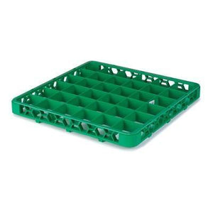 Carlisle RE36C09 Opticlean 36 Compartments Green Color-Coded Glass Rack Extender