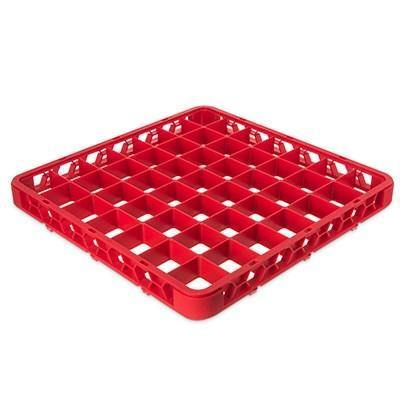 Carlisle RE49C05 Opticlean 49 Compartments Red Color-Coded Glass Rack Extender