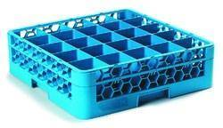 Carlisle RG25-114 Opticlean 25 Compartments Blue Glass Rack with 1 Extender