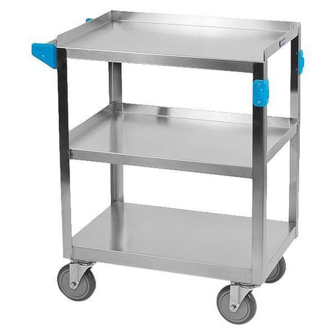 "Carlisle UC3031524 3 Shelf Stainless Steel Utility Cart - 24""L"