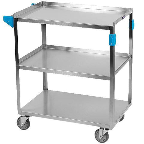 "Carlisle UC3031827 3 Shelf Stainless Steel Utility Cart - 27""L"