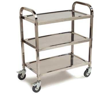 Carlisle UC4031529 Knocked Down 3 Shelf Stainless Steel Utility Cart