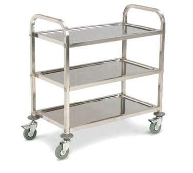 Carlisle UC4031733 Knocked Down 3 Shelf Stainless Steel Utility Cart