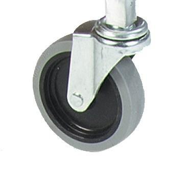 "Carlisle UCC452500 5"" Replacement Fixed Caster For UC401823 and UC452523 Utility Carts"