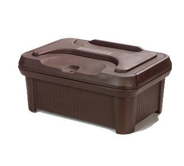 Carlisle XT180001 Food Pan Carrier with Sliding Lid - 24 Quart (Insulated, Top-Loader), Brown