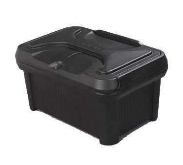 Carlisle XT180003 Food Pan Carrier with Sliding Lid - 24 Qt. (Insulated, Top-Loader), Black