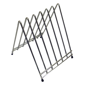 "Winco CB-6L Cutting Board Rack, 6 slots, fits cutting boards up to 1"" thick, chrome plated"