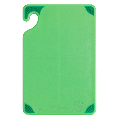 "San Jamar CBG6938GN Saf-T-Grip® Bar Cutting Board, 6"" x 9"" x 3/8"", green, NSF"